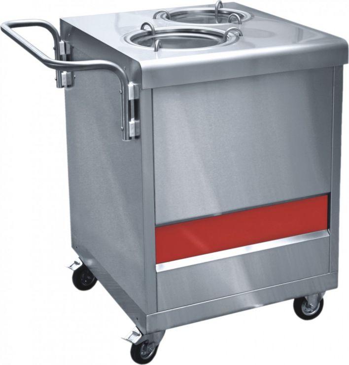 Прилавок  ПТЭ-70КМ(П)-80 для подогрева тарелок (80 тарелок, 2х240 мм, 630 мм) /вся нерж./